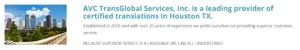 AVC TransGlobal Services Info