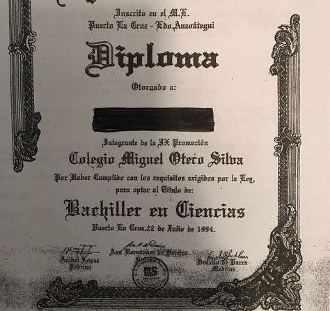 Certified Translation of Transcript and Diploma